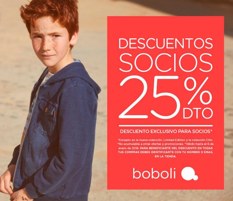 Descuento socios 25% en Boboli