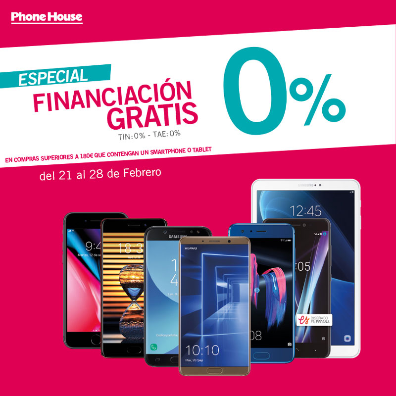 Financiación gratis en The Phone House