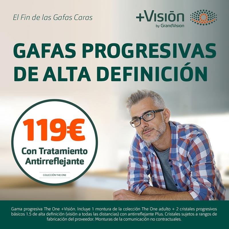 Gafas progresivas en +Visión