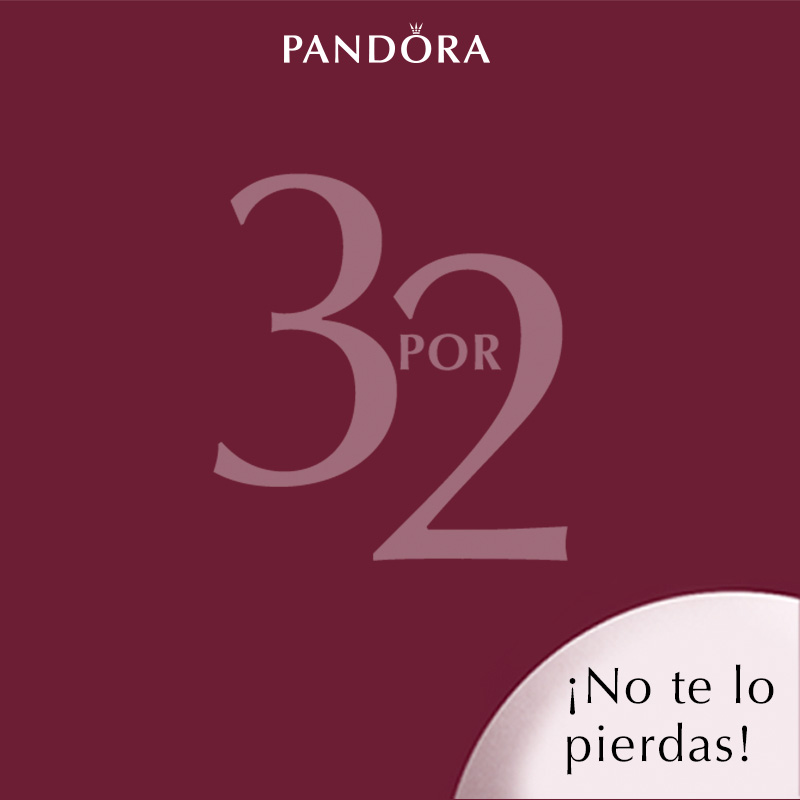 ¡3×2 en Pandora!
