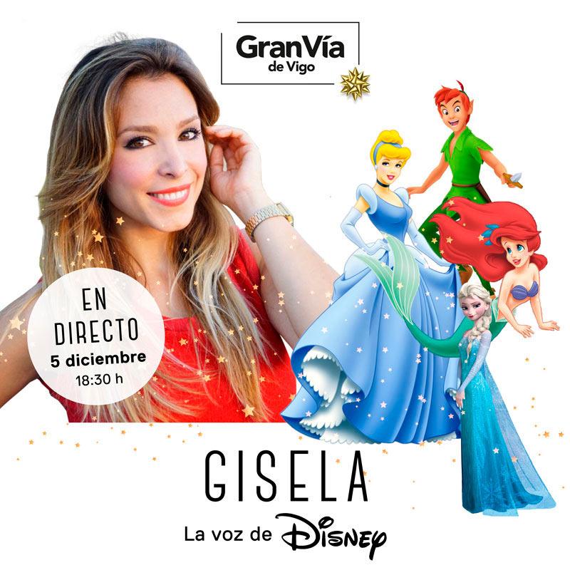 Actuación de Gisela, la voz de Disney