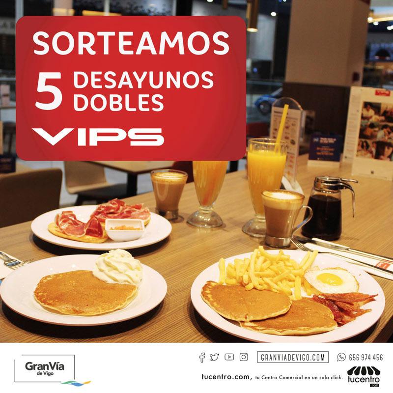 Sorteamos 5 desayunos dobles en VIPS