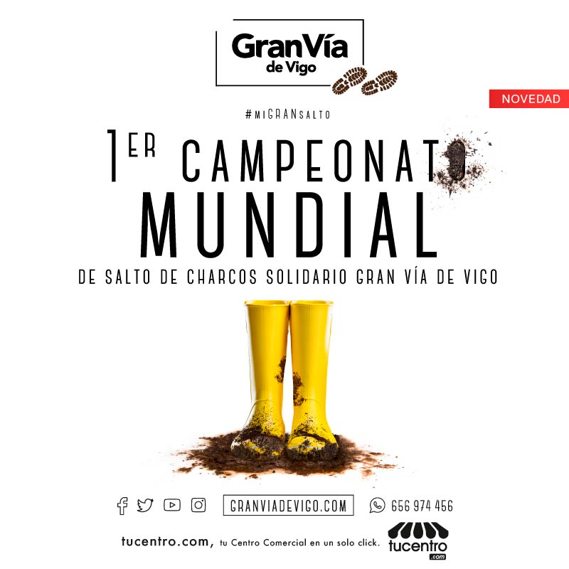 LLEGA EL 1er CAMPEONATO MUNDIAL DE SALTO DE CHARCOS SOLIDARIO GRAN VÍA DE VIGO