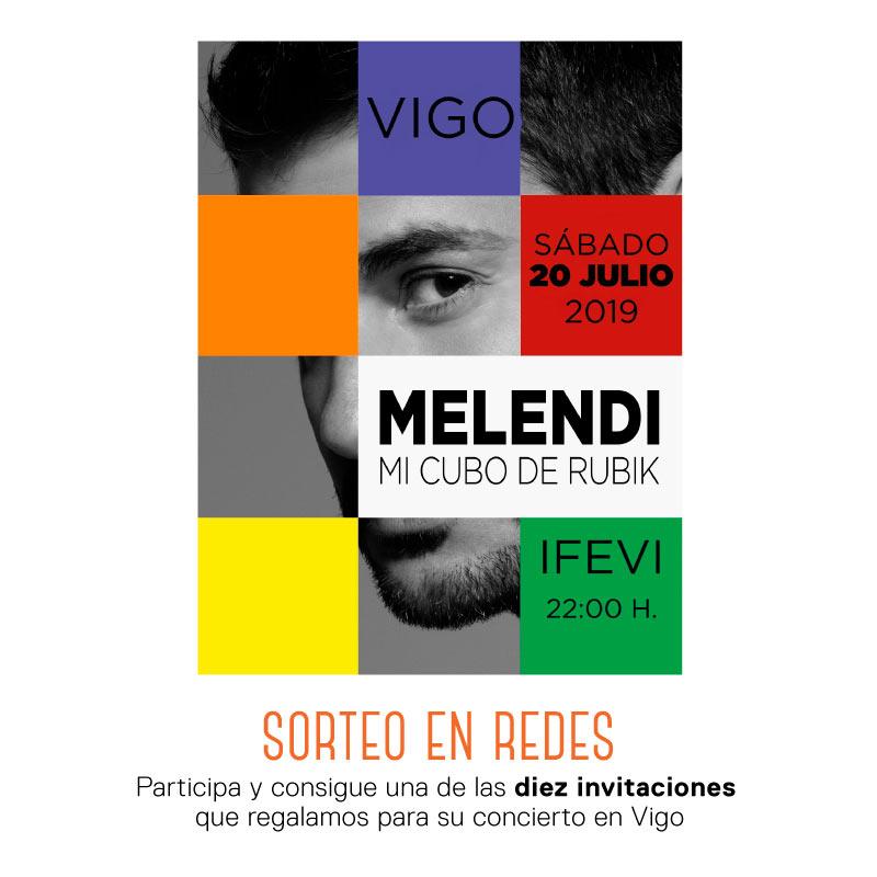 Regalamos 10 Invitaciones para el concierto de Melendi del 20 de julio