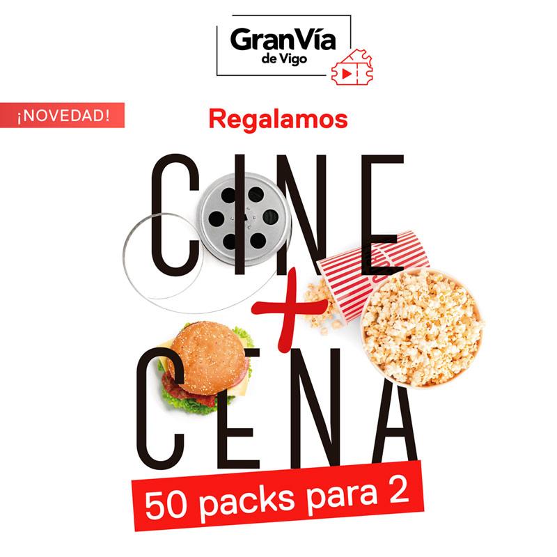 Promociones 🎬🍔Regalamos 50 packs dobles de Cine y Cena 🎬🍔 Gran Vía de Vigo